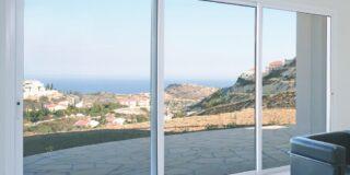 Interior of contemporary home with Mediterranean coastline
